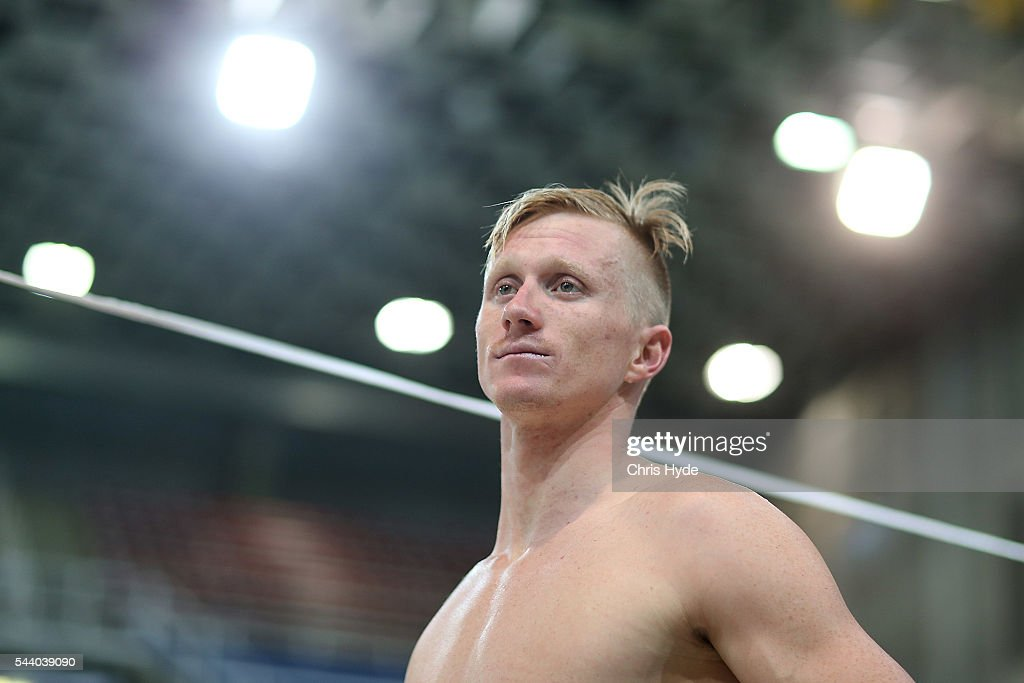Daniel Smith looks on during the 2016 Australian Swimming Grand Prix at the Chandler Sports Centre on July 1, 2016 in Brisbane, Australia.