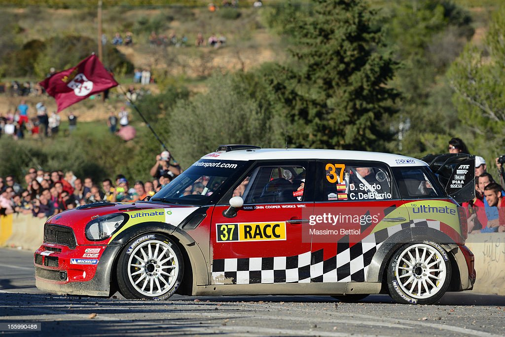 Daniel Sordo of Spain and Carlos Del Barrio of Spain compete in their Prodrive WRC Team Mini John Cooper Works WRC during Day Two of the WRC Spain on November 10, 2012 in Salou , Spain.