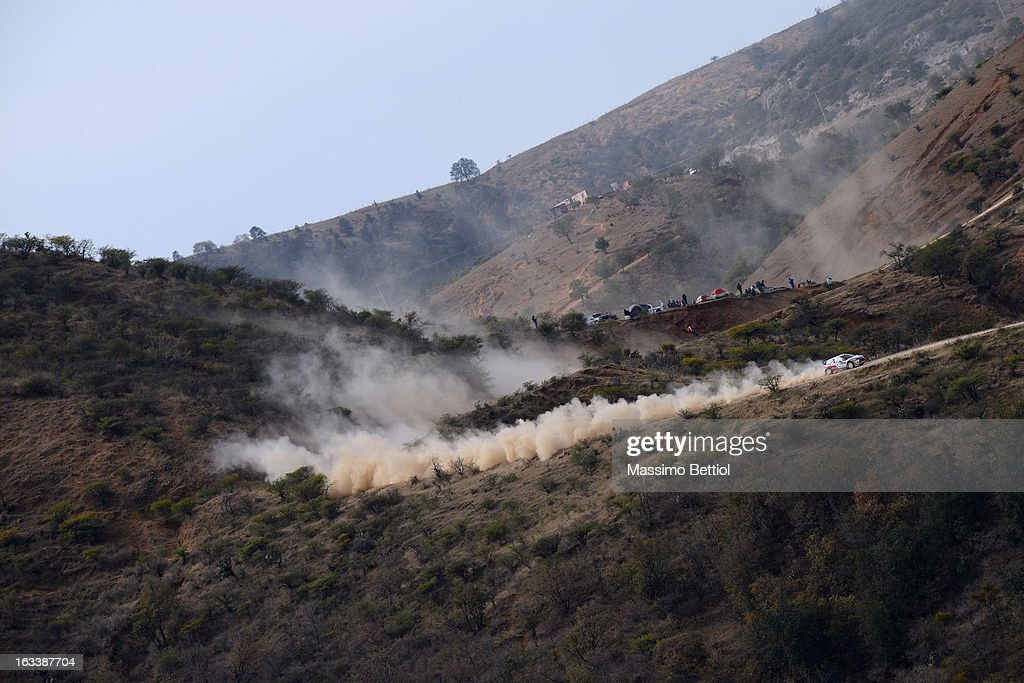 Daniel Sordo of Spain and Carlos Del Barrio of Spain compete in their Citroen Total Abu Dhabi WRT Citroen DS3 WRC during Day One of the WRC Mexico on March 08 , 2013 in Leon , Mexico.