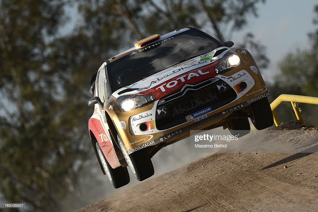 Daniel Sordo of Spain and Carlos Del Barrio of Spain compete in their Citroen Total Abu Dhabi WRT Citroen DS3 WRC during Day Two of the WRC Mexico on March 09, 2013 in Leon, Mexico.