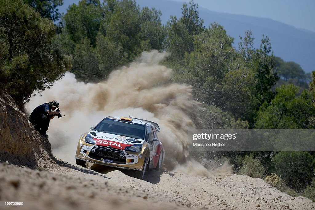 Daniel Sordo of Spain and Carlos Del Barrio of Spain compete in their Citroen Total Abu Dhabi WRT Citroen DS3 WRC during the Shakedown of the WRC Greece on May 31, 2013 in Loutraki, Greece.