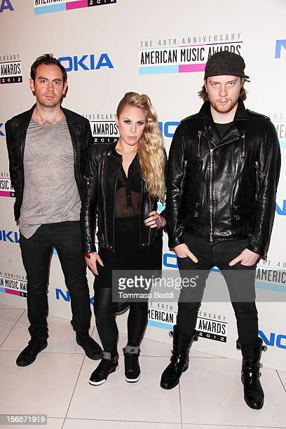Daniel Stephens Alana Watson and Joe Ray of Nero attend the 40th Anniversary of American Music Awards Electronic Dance Music Celebration held at the...