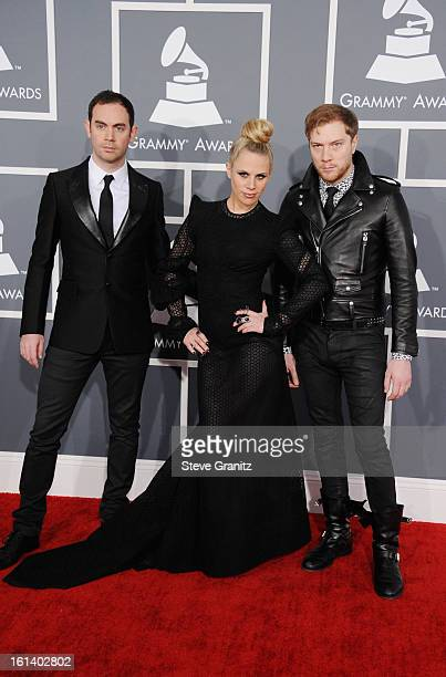 Daniel Stephens Alana Watson and Joseph Ray of Nero attend the 55th Annual GRAMMY Awards at STAPLES Center on February 10 2013 in Los Angeles...