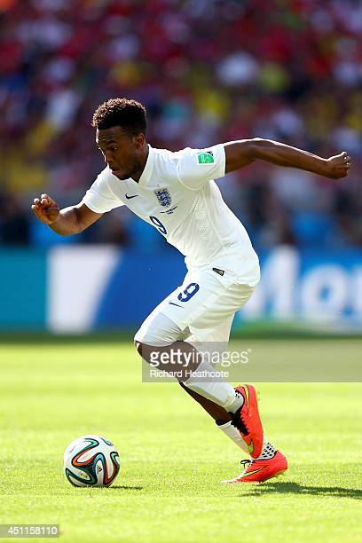 Daniel Sturridge of England controls the ball during the 2014 FIFA World Cup Brazil Group D match between Costa Rica and England at Estadio Mineirao...