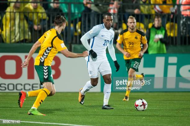 Daniel Sturridge of England in action during the 2018 FIFA World Cup European Qualification football match between England and Lithuania at LFF...