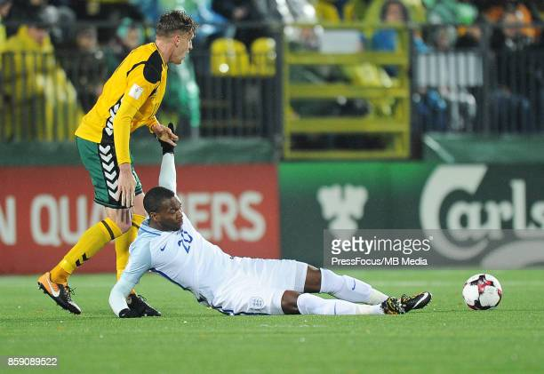 Daniel Sturridge of England in action during the FIFA 2018 World Cup qualifier between Lithuania and England on October 8 2017 in Vilnius Lithuania