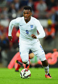 Daniel Sturridge of England in action during the International friendly match between England and Norway at Wembley Stadium on September 3 2014 in...