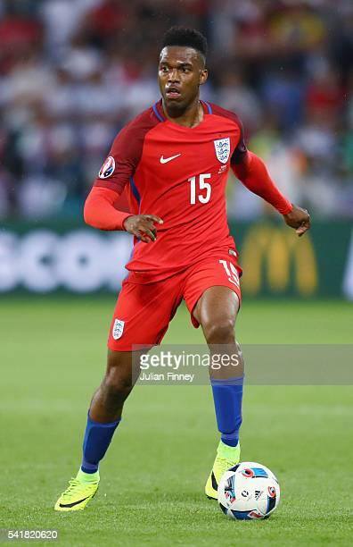Daniel Sturridge of England in action during the UEFA EURO 2016 Group B match between Slovakia and England at Stade GeoffroyGuichard on June 20 2016...