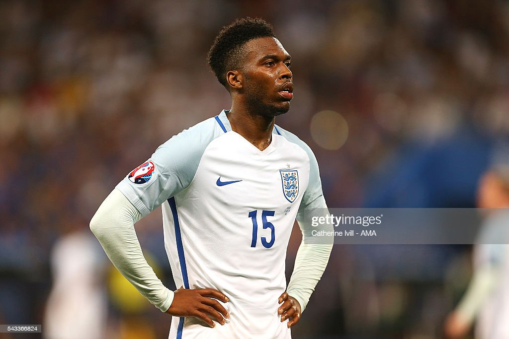 <a gi-track='captionPersonalityLinkClicked' href=/galleries/search?phrase=Daniel+Sturridge+-+Soccer+Player&family=editorial&specificpeople=677270 ng-click='$event.stopPropagation()'>Daniel Sturridge</a> of England looks on during the UEFA Euro 2016 Round of 16 match between England and Iceland at Allianz Riviera Stadium on June 27, 2016 in Nice, France.