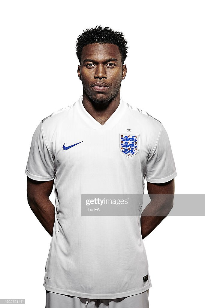 <a gi-track='captionPersonalityLinkClicked' href=/galleries/search?phrase=Daniel+Sturridge&family=editorial&specificpeople=677270 ng-click='$event.stopPropagation()'>Daniel Sturridge</a> of England poses for a portrait during an England Football Squad Portrait session ahead of the 2014 World Cup in Brazil.