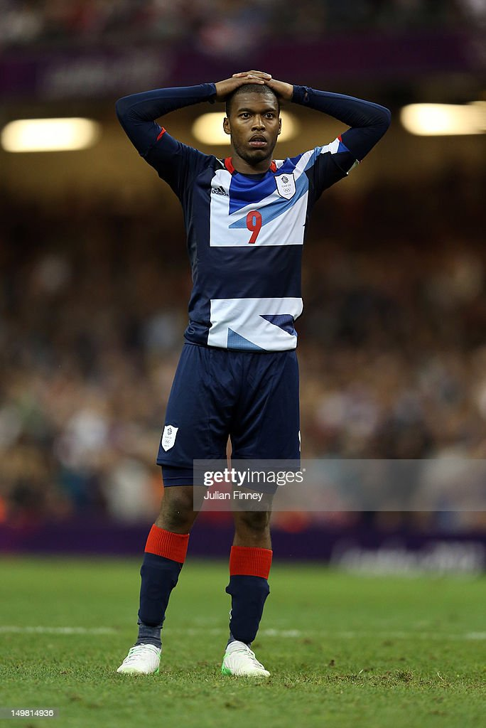 Daniel Sturridge of Great Britain looks dejected after his penalty was saved in the penalty shoot out during the Men's Football Quarter Final match between Great Britain and Korea, on Day 8 of the London 2012 Olympic Games at Millennium Stadium on August 4, 2012 in Cardiff, Wales.