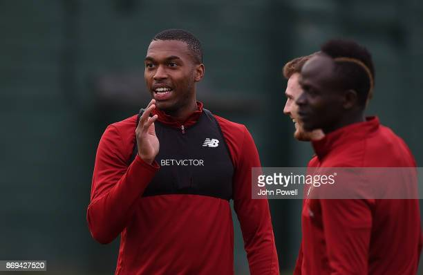Daniel Sturridge of Liverpool during a training session at Melwood Training Ground on November 2 2017 in Liverpool England