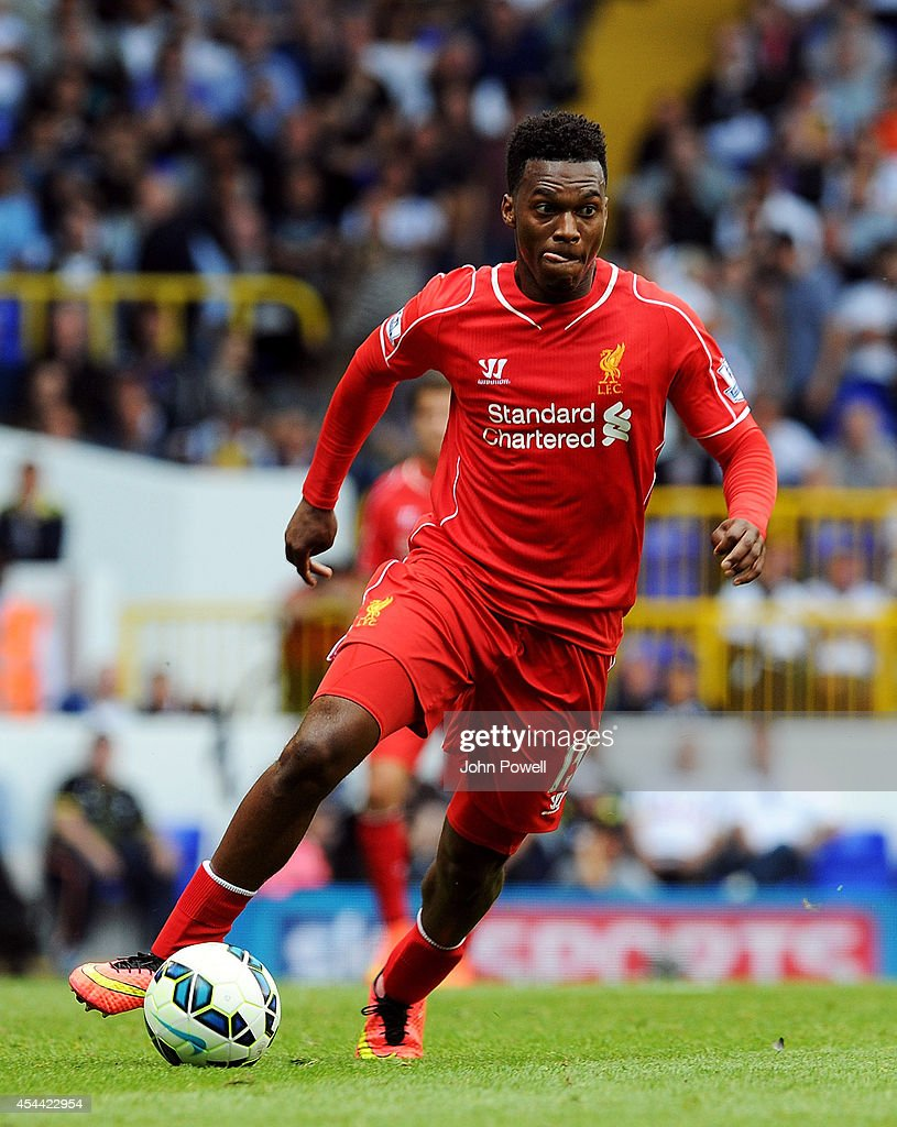 Daniel Sturridge of Liverpool during the Barclays Premier League match between Tottenham Hotspur and Liverpool at White Hart Lane on August 31, 2014 in London, England.