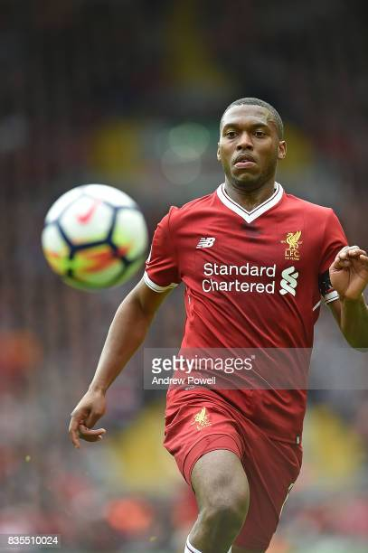 Daniel Sturridge of Liverpool during the Premier League match between Liverpool and Crystal Palace at Anfield on August 19 2017 in Liverpool England