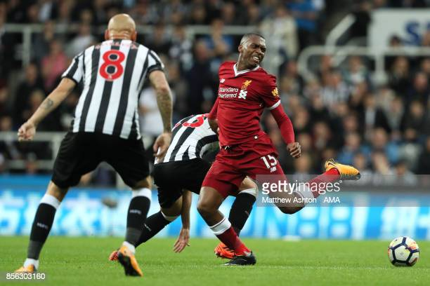 Daniel Sturridge of Liverpool in action during the Premier League match between Newcastle United and Liverpool at St James' Park on October 1 2017 in...