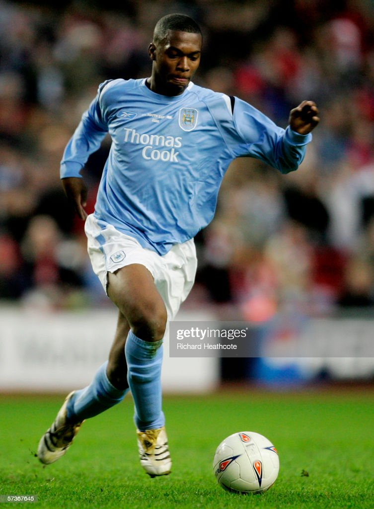 Daniel Sturridge of Man City in action during the FA Youth Cup Final 1st Leg match between Liverpool and Manchester City at Anfield on April 13 2006...