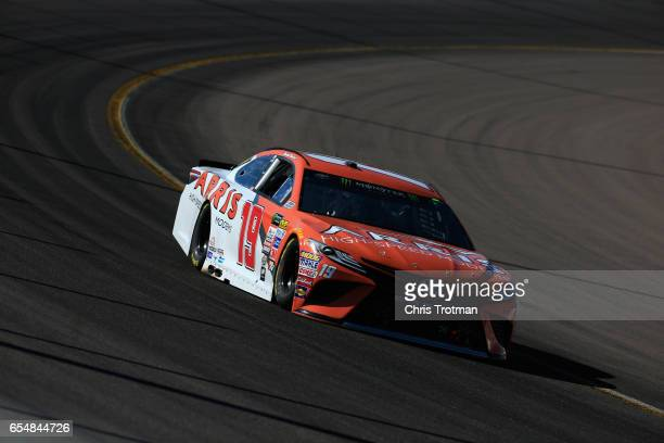 Daniel Suarez driver of the ARRIS Toyota drives during practice for the Monster Energy NASCAR Cup Series Camping World 500 at Phoenix International...