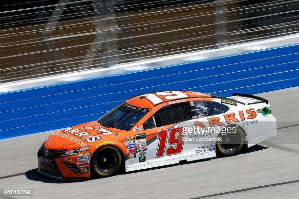 Daniel Suarez driver of the ARRIS Toyota practices for the Monster Energy NASCAR Cup Series Folds of Honor QuikTrip 500 at Atlanta Motor Speedway on...
