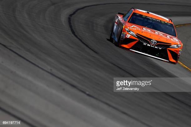 Daniel Suarez driver of the ARRIS Toyota practices for the Monster Energy NASCAR Cup Series Axalta presents the Pocono 400 at Pocono Raceway on June...