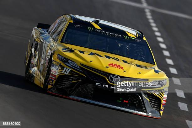 Daniel Suarez driver of the STANLEY Toyota practices for the Monster Energy NASCAR Cup Series O'Reilly Auto Parts 500 at Texas Motor Speedway on...