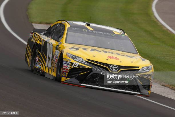 Daniel Suarez Joe Gibbs Racing Toyota Camry during practice for the NASCAR Monster Energy Cup Series Brantley Gilbert Big Machine Brickyard 400 July...