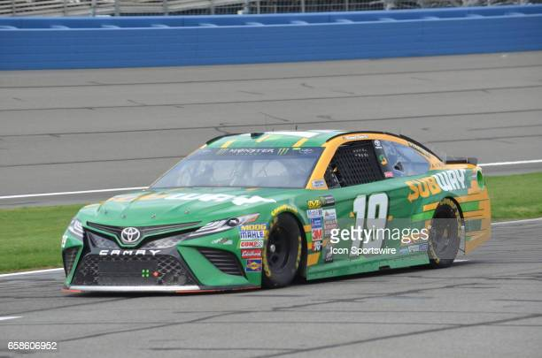 Daniel Suarez Subway Toyota Joe Gibbs Racing heads to garage area after practice session at the NASCAR Monster Energy Cup Series Auto Club 400 on...