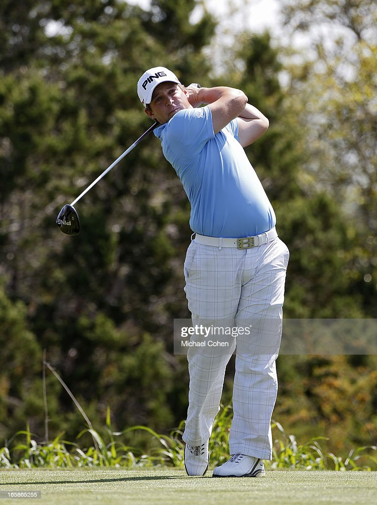<a gi-track='captionPersonalityLinkClicked' href=/galleries/search?phrase=Daniel+Summerhays&family=editorial&specificpeople=4404172 ng-click='$event.stopPropagation()'>Daniel Summerhays</a> hits his drive on the 15th hole during the third round of the Valero Texas Open held at the AT&T Oaks Course at TPC San Antonio on April 6, 2013 in San Antonio, Texas.