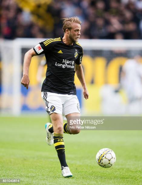 Daniel Sundgren of AIK during the Allsvenskan match between AIK and Athletic FC Eskilstura at Friends arena on August 13 2017 in Solna Sweden