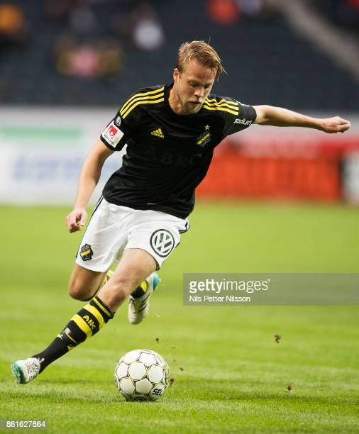 Daniel Sundgren of AIK during the Allsvenskan match between AIK and Jonkopings Sodra IF at Friends Arena on October 15 2017 in Solna Sweden