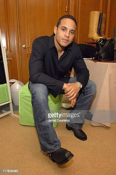 Daniel Sunjata in Frye Boots at the Fyre gift station