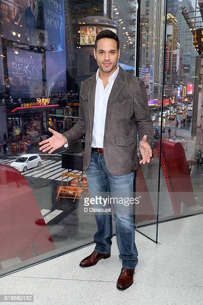 Daniel Sunjata visits 'Extra' at their New York studios at HM in Times Square on October 27 2016 in New York City
