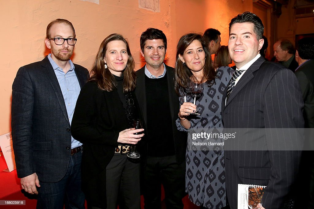 Daniel Susla, Pam Schoenfeld, Drew Weaver, Vicki Saunders, and Ed Rivera of TouchTunes attend T.J. Martell Foundation's Annual World Tour of Wine Dinner at The Angel Orensanz Foundation on November 14, 2013 in New York City.