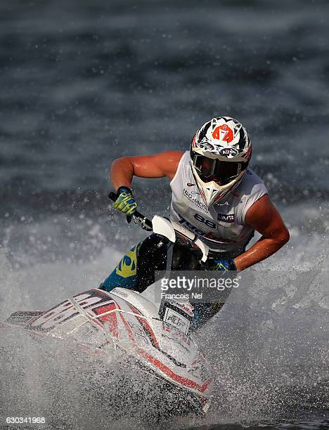 Daniel Svae Andersen of Norway race in the Ski Division GP1 final during the Aquabike Class Pro Circuit World Championships Grand Prix of Sharjah at...