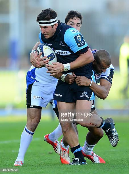 Daniel Tailliferrer Hauman van der Merwe of Glasgow Warriors in action during the European Rugby Champions Cup match between Glasgow Warriors and...