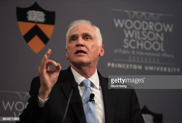 Daniel Tarullo governor of the US Federal Reserve speaks during an event at Princeton University in Princeton New Jersey US on Tuesday April 4 2017...