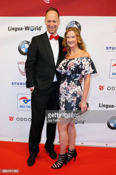 Daniel Termann and Daniela Schwerdt attend the Victress Awards Gala on May 8 2017 in Berlin Germany