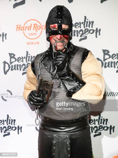 Daniel Termann attends the Halloween party hosted by Natascha Ochsenknecht at Berlin Dungeon on October 23 2017 in Berlin Germany
