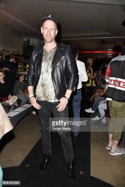 Daniel Termann attends the Matthias Maus Fashion Show Autumn/Winter 2017 at Kaufhaus Jandorf on July 5 2017 in Berlin Germany