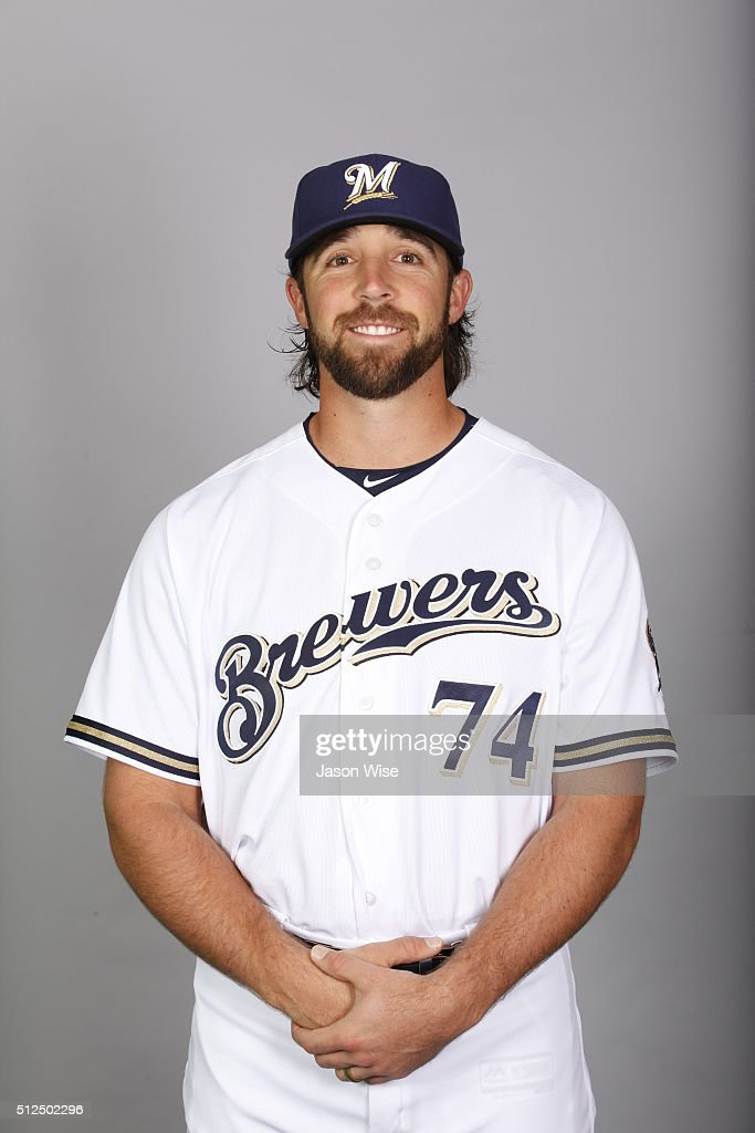 Daniel Tillman #74 of the Milwaukee Brewers poses during Photo Day on Friday, February 26, 2016 at Maryvale Baseball Park in Phoenix, Arizona.