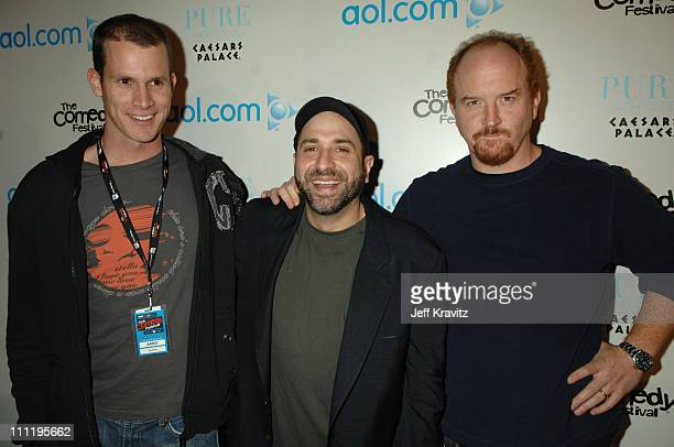Daniel Tosh Dave Attell and Louis CK during HBO AEG Live's 'The Comedy Festival' AOL Party at Caesars Palace in Las Vegas Nevada United States