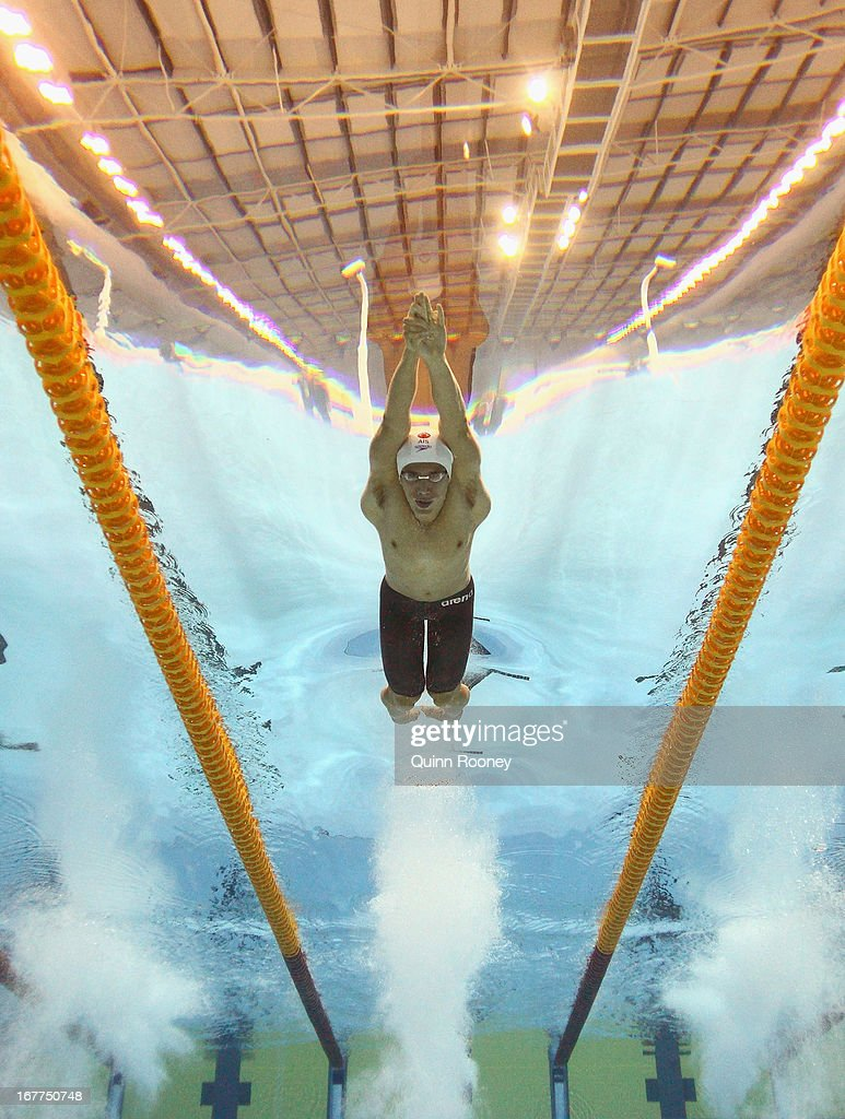 Daniel Tranter of Australia competes in the Men's 200 Metre Individual Medley Semi Final during day four of the World Swimming Championships at SA Aquatic and Leisure Centre on April 29, 2013 in Adelaide, Australia.