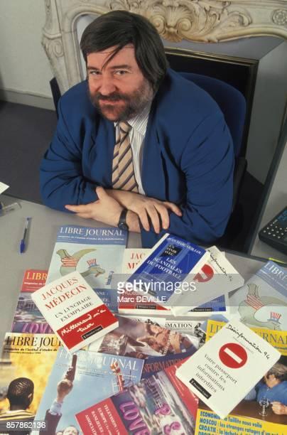 Daniel Trinquet directeur des editions Premiere Ligne le 8 avril 1994 en France