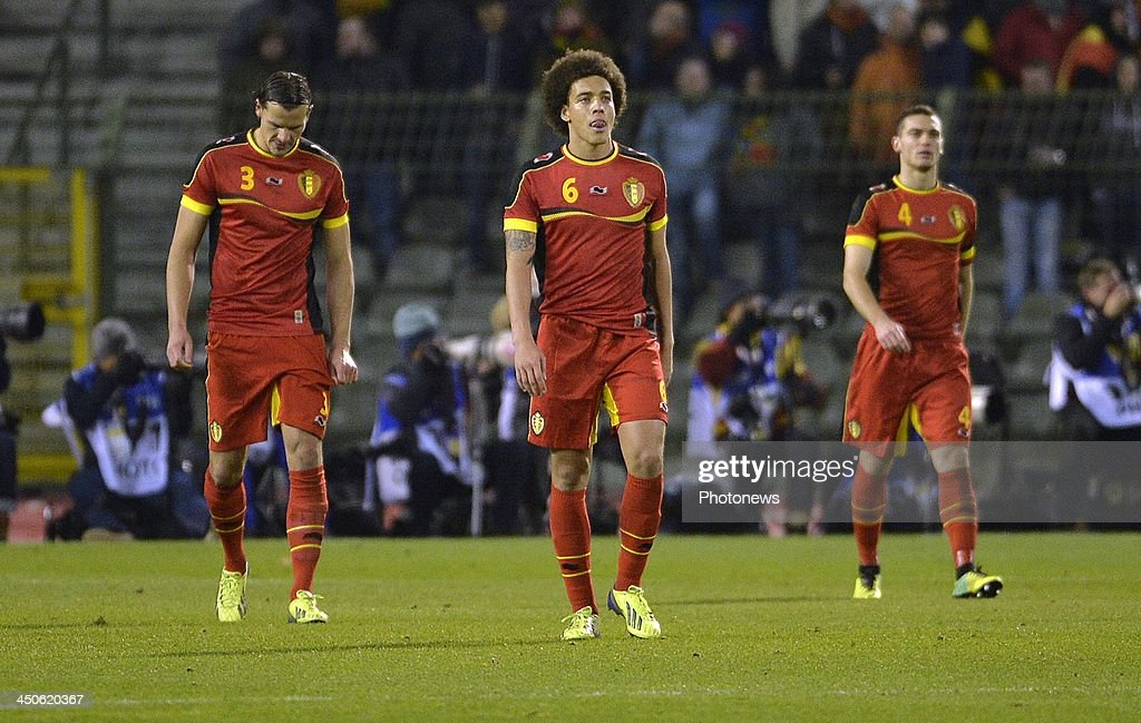 Daniel Van Buyten of FC Bayern München - Axel Witsel of FC Zenit St-Petersburg pictured during the international friendly match before the World Cup in Brasil between Belgium and Japan on November 19, 2013 in Brussels, Belgium