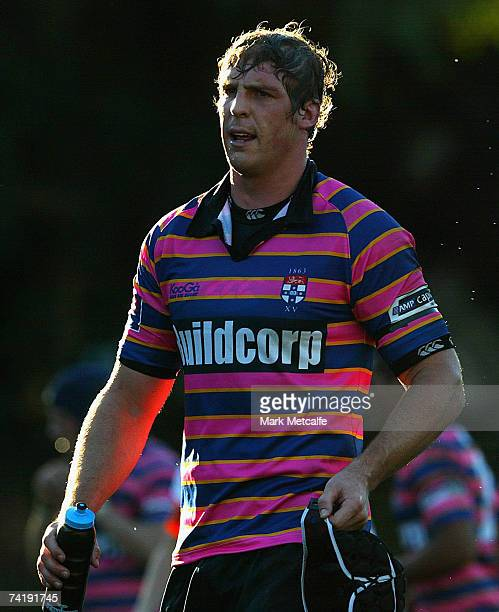 Daniel Vickerman of University looks on during the round seven Shute Shield match between Sydney University and Eastwood at University Oval No 1 on...