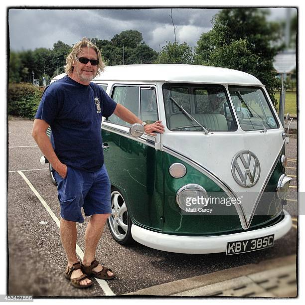 Daniel Vosloo from Hertfordshire poses for a photograph besides his 1965 first generation or T1 splitscreen Volkswagen Transporter van on August 4...