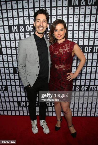 Daniel Vosovic and Zoe Chapin attend the opening night of 'In Of Itself' at the Daryl Roth Theatre on April 12 2017 in New York City