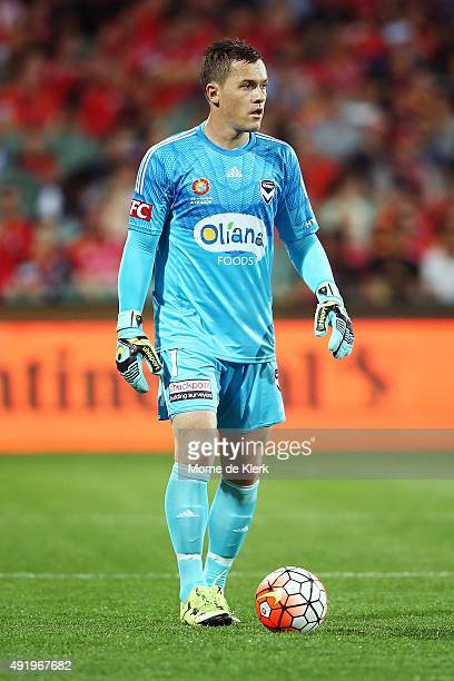 Daniel Vukovic of Melbourne looks on during the round one ALeague match between Adelaide United and Melbourne Victory at Adelaide Oval on October 9...