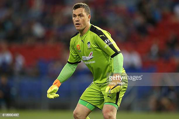 Daniel Vukovic of Sydney FC during the round four ALeague match between the Newcastle jets and Sydney FC at McDonald Jones Stadium on October 29 2016...