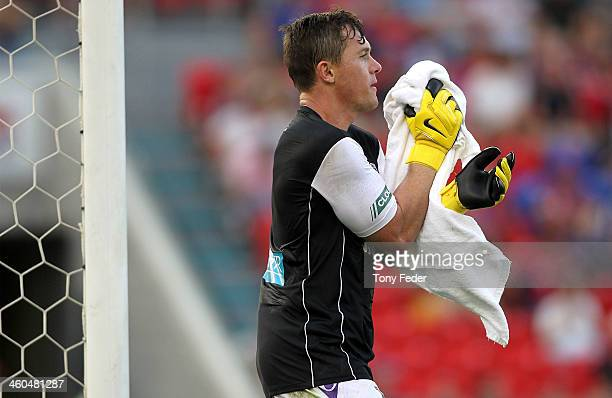 Daniel Vukovic of the Glory in action during the round 13 ALeague match between the Newcastle Jets and Perth Glory at Hunter Stadium on January 4...