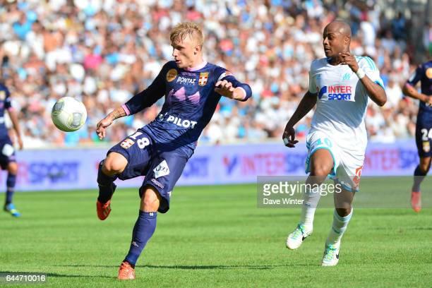 Daniel WASS / Andre AYEW Marseille / Evian 2eme journee de Ligue 1 Photo Dave Winter / Icon Sport